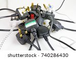 plan view of plugs   blurred... | Shutterstock . vector #740286430
