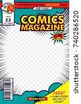 comic book cover. vector art... | Shutterstock .eps vector #740286520