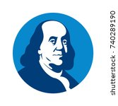 benjamin franklin vector logo. | Shutterstock .eps vector #740289190
