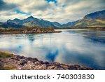 beautiful wilderness  panoramic ...   Shutterstock . vector #740303830
