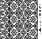 damask vintage floral seamless... | Shutterstock .eps vector #740305816