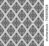 damask vintage floral seamless... | Shutterstock .eps vector #740305828