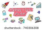illustration of a marketing... | Shutterstock . vector #740306308