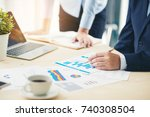 business meeting time. photo... | Shutterstock . vector #740308504