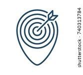 target inside pin vector icon... | Shutterstock .eps vector #740313784