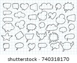 artistic collection of hand... | Shutterstock .eps vector #740318170