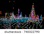 christmas light decoration and... | Shutterstock . vector #740322790