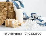 composition of spa treatment | Shutterstock . vector #740323900