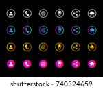 set of contact detail icon... | Shutterstock .eps vector #740324659