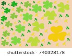 age of color clover leaves... | Shutterstock .eps vector #740328178