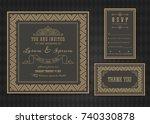 wedding invitation card vector... | Shutterstock .eps vector #740330878