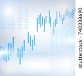 abstract financial chart with... | Shutterstock .eps vector #740338690