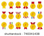 gold medal icon   1st place ... | Shutterstock .eps vector #740341438
