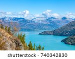 mountains and lake | Shutterstock . vector #740342830