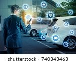 internet of things and...   Shutterstock . vector #740343463