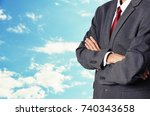 business man with sky background | Shutterstock . vector #740343658