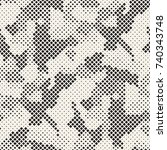modern stylish halftone texture.... | Shutterstock .eps vector #740343748