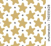 seamless pattern stars in...   Shutterstock . vector #740355628