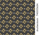 seamless pattern spiral in...   Shutterstock . vector #740355634