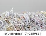 pile of shredded documents  | Shutterstock . vector #740359684