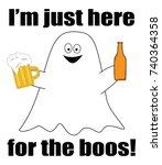 happy halloween ghost boos | Shutterstock .eps vector #740364358