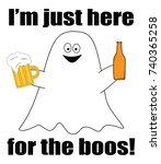 happy halloween ghost boos | Shutterstock . vector #740365258