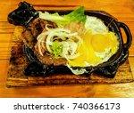 beefsteak in vietnamese... | Shutterstock . vector #740366173