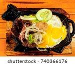 beefsteak in vietnamese... | Shutterstock . vector #740366176