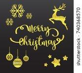 christmas background vector... | Shutterstock .eps vector #740368570