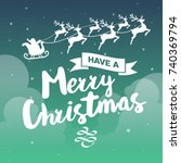 christmas background vector... | Shutterstock .eps vector #740369794