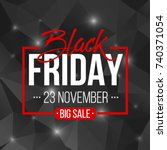 abstract vector black friday...   Shutterstock .eps vector #740371054