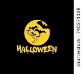 halloween logo template | Shutterstock .eps vector #740371138