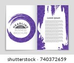 abstract vector layout... | Shutterstock .eps vector #740372659