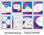 abstract vector layout... | Shutterstock .eps vector #740376949