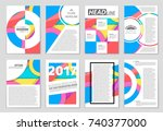abstract vector layout... | Shutterstock .eps vector #740377000