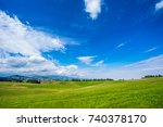 ranch in the valley | Shutterstock . vector #740378170