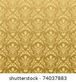 Vector Seamless Gold Pattern...