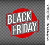 abstract vector black friday... | Shutterstock .eps vector #740380336