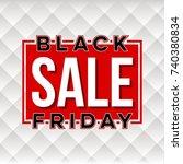abstract vector black friday... | Shutterstock .eps vector #740380834