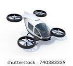 white self driving passenger... | Shutterstock . vector #740383339