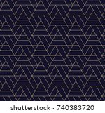 simple seamless geometric grid... | Shutterstock .eps vector #740383720