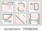 abstract vector layout... | Shutterstock .eps vector #740386438