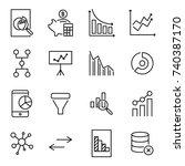 premium set of analysis line... | Shutterstock .eps vector #740387170