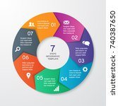 circle arrows for infographics. ... | Shutterstock .eps vector #740387650