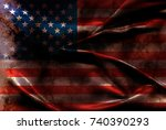 usa flag background | Shutterstock . vector #740390293