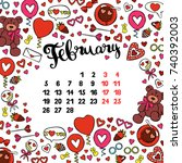 calendar. month. abstract... | Shutterstock .eps vector #740392003