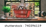 supermarket online shopping... | Shutterstock . vector #740396119