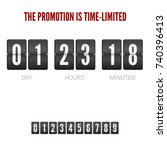 analog ounter remaining time ... | Shutterstock .eps vector #740396413