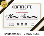 certificate template luxury and ... | Shutterstock .eps vector #740397658
