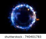 abstract background. luminous... | Shutterstock . vector #740401783